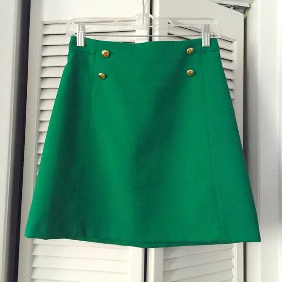 Green A Line Skirt - Skirts