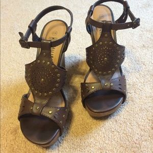 Brown Wedges size 6.5