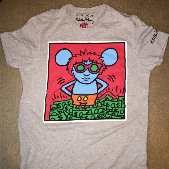 ed2cc9d7 Zara Shirts | Mens Keith Haring Tshirt Small | Poshmark