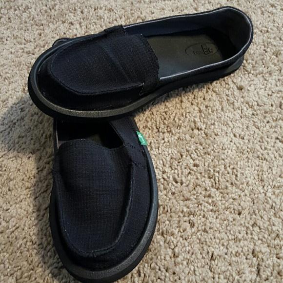 Sanuk Shoes | Nwot Womens Black Size 8
