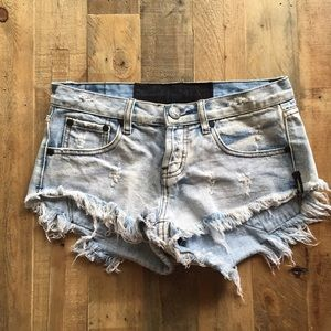 One Teaspoon Destroyed Shorts