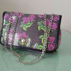 Betsey Johnson Sequined Floral Bag ONE DAY SALE