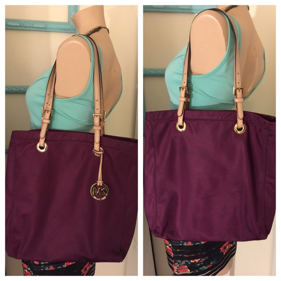 prada leather accessories - 66% off Michael Kors Handbags - Michael Kors Fushia Nylon Tote ...