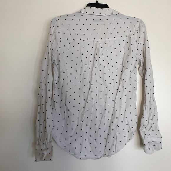 41 off bdg tops black and white polka dot button down