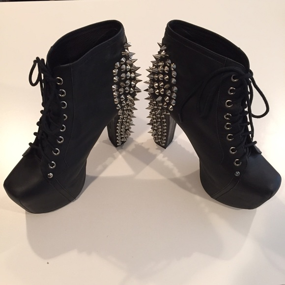 55 off jeffrey campbell shoes jeffrey campbell black spiked lita booties from m 39 s closet on. Black Bedroom Furniture Sets. Home Design Ideas