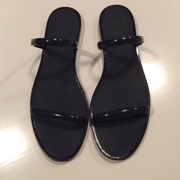 cf28a6fe8b6c Tory Burch Two-Band Jelly Slide Sandal. M 55b9740e8ae9402ea9000235. Other  Shoes ...
