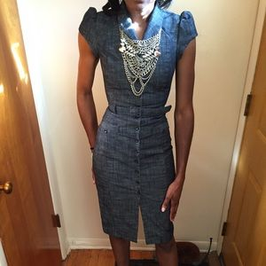 H&M Chambray Dress Size 4