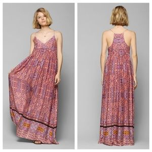 Boho chic long dress multicolored