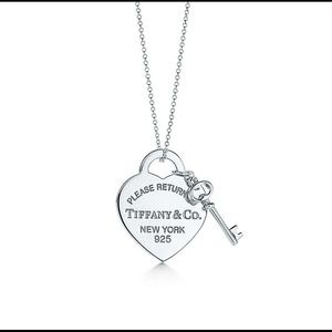 Please Return to Tiffany Heart and Key Necklace