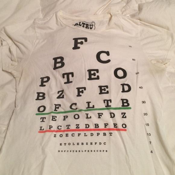 Tops Eye Chart Tshirt Poshmark