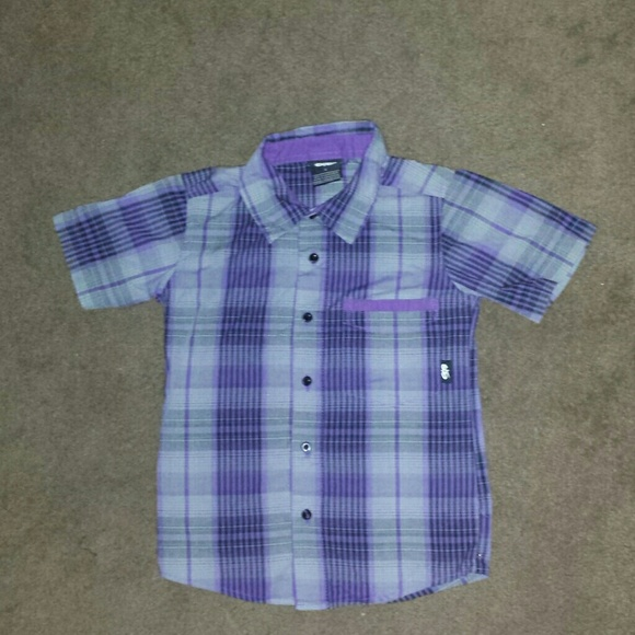 3bf1b0d4 Nike 6.0 Tops | Boys Nike 60 Purple Plaid Shirt Size 4 | Poshmark