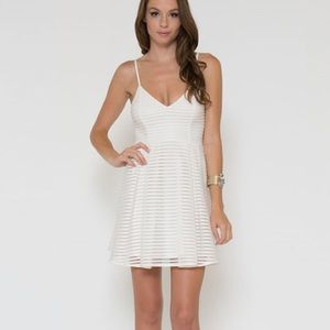 """Snow"" Fit & Flare White Dress"