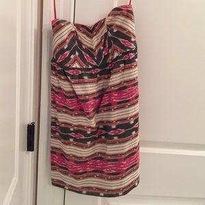 Urban Outfitters Tribal Strapless Print Dress Sz 0