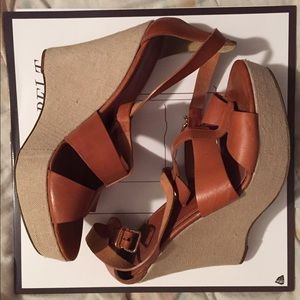 J.Crew Palma Leather Platform Wedges
