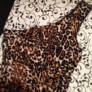 1 sleeve cheetah print party dress