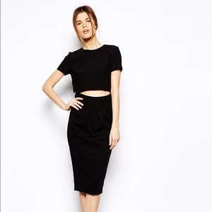 ASOS Dresses & Skirts - Preowned ASOS pencil dress with crepe shell top
