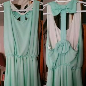 Green cutout dress