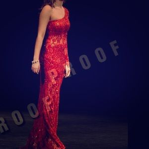 Red pageant/prom gown