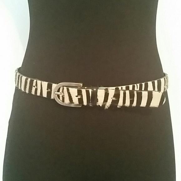 Casual Corner Accessories - ✳ Casual Corner Zebra Leather Belt ✳