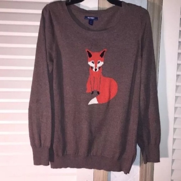 Old Navy Sweaters - Old navy fox sweater as seen on blogger favorite