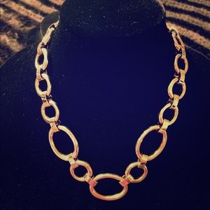 Jewelry - 🌟NEW! 🌟Gold-tone (light) hoop statement necklace