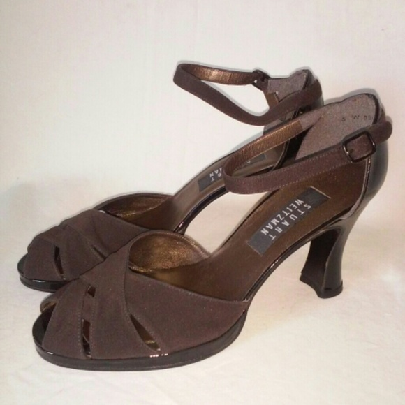 aa9a404f9a5f Vintage retro 1940s Stuart Weitzman heels shoes. M 55ba2fea986c425dd30036ee