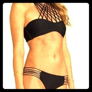 Other - FLASH SALE !!! Black Strappy Bikini