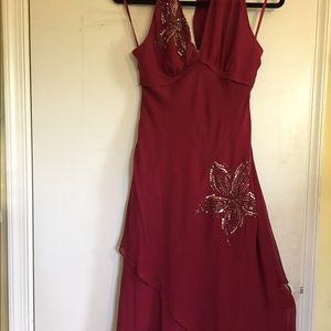 Brand new BCBG Marsala color party dress. Size 8.