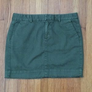 GAP Twill Mini Skirt