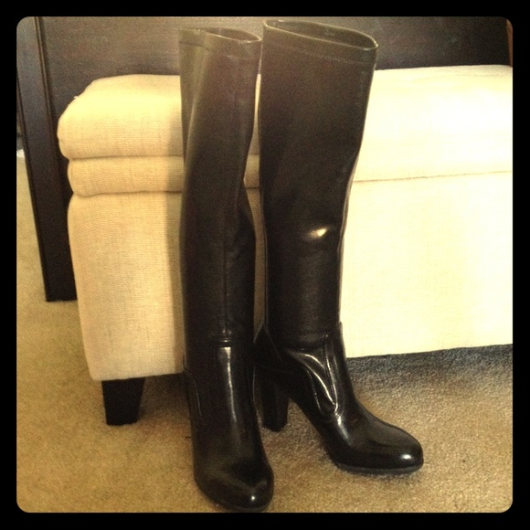 1110d4c047c Image of franco sarto benner leather over the knee boot sarto by franco  benner over the knee boot in dark burgundy leather a stretchy franco sarto  katie ...