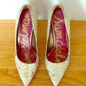 Snakeskin Pointed Toe Sam Edelman Pump