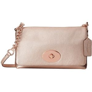 Authentic Coach Rose Gold Crossbody