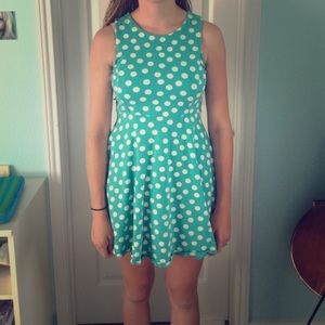 A polka dotted dress