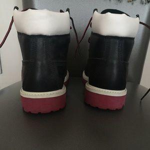 Bottes Timberland Noir Et Rouge xh1Zxc