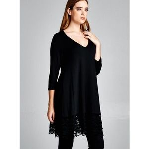 "Bare Anthology Tops - ""Last Duchess"" Lace Hem Long Sleeve Top"