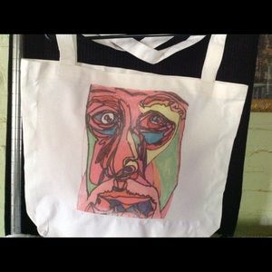 """""""Picasso"""" pink tote bag"""