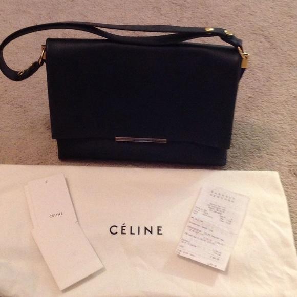 Celine Handbags - Celine Blade Shoulder Bag Navy f2181819188fb
