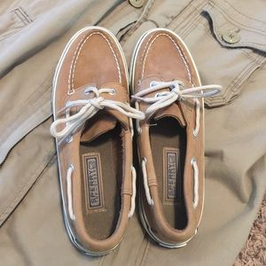 Leather Sperry Top Siders.