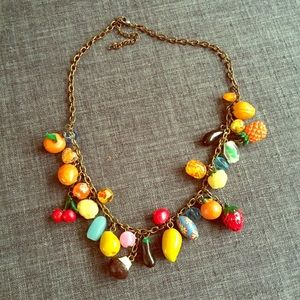 Funky fruit necklace