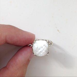 b63debfe8 ... Cheap PANDORA Rings White Pandora Jewelry - Pandora Ring - Sincerity  Mother-of-Pearl Pandora stackable ...