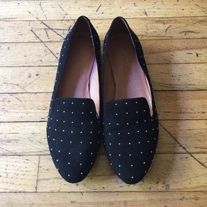 Madewell Studded Suede Teddy Loafer