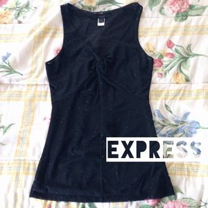 SALE! Express Sheer Glitter Polka Dot Top