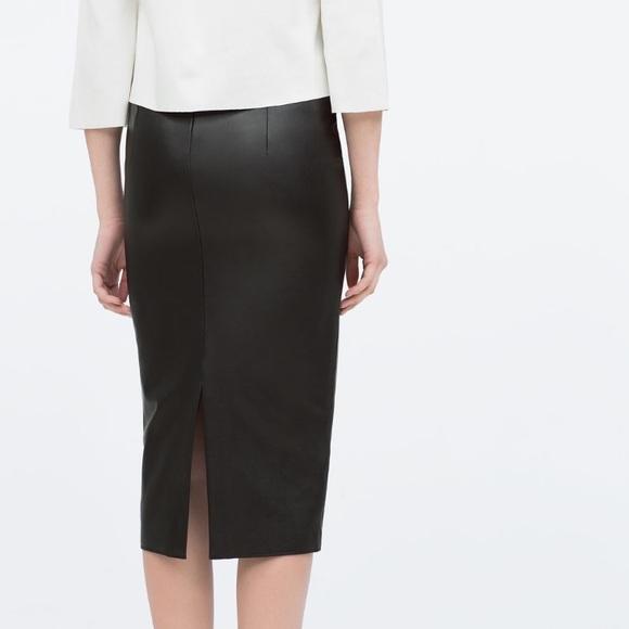 15 zara dresses skirts zara black leather midi