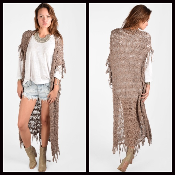 20% off Free People Sweaters - FREE PEOPLE Cardigan Vest Long ...