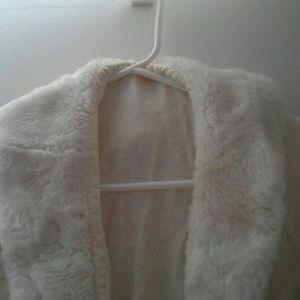 Vintage faux fur cardigan  - unique