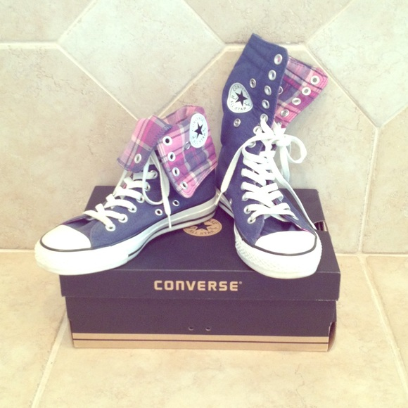 evaluate Friday curriculum  Converse Shoes | All Star Plaid Foldable Sneakers | Poshmark