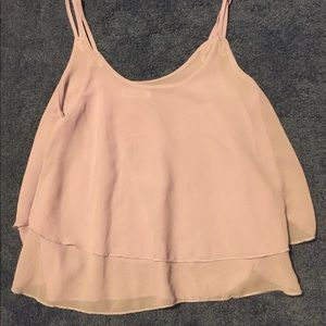 Tops - Flowy layered tank nwot