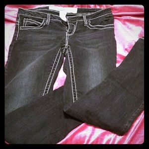 Dark denim skinny's