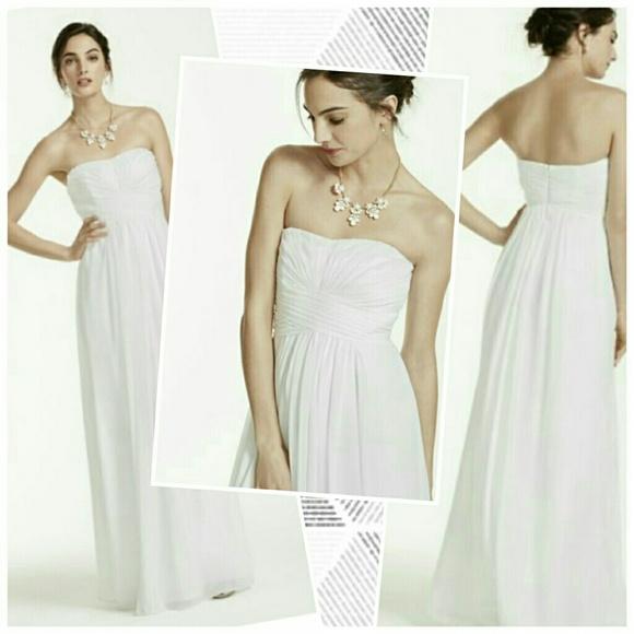 David\'s Bridal Dresses   Db Studio Strapless Sweetheart Chiffon Gown ...