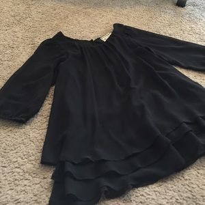 Anthropologie Tops - Black sheer flowy top